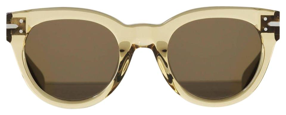 dd3715430745 Céline NEW Celine CL41040/S New Butterfly Champagne Transparent Sunglasses  Image 0 ...