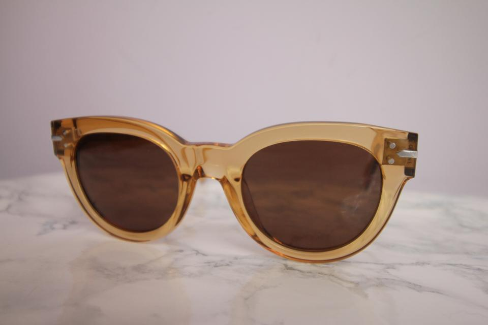 3ae541be87fb Céline NEW Celine CL41040/S New Butterfly Champagne Transparent Sunglasses  Image 7. 12345678