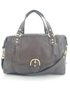 Coach Campbell Leather Satchel in Brown