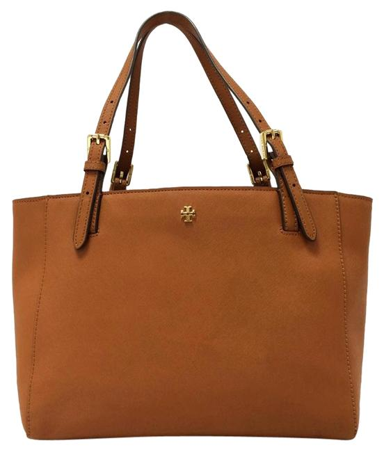 Item - York Small Buckle Luggage Saffiano Leather Tote
