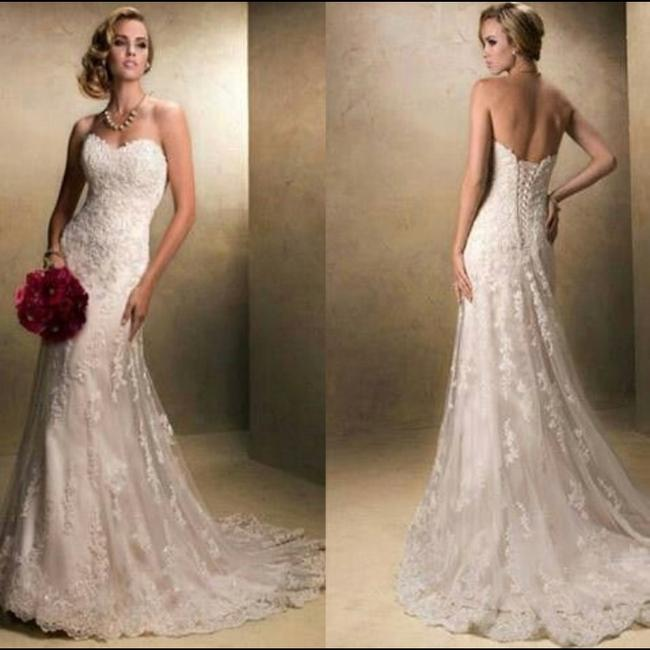 Maggie Sottero White/Ivory Emma Traditional Wedding Dress Size 2 (XS) Maggie Sottero White/Ivory Emma Traditional Wedding Dress Size 2 (XS) Image 1