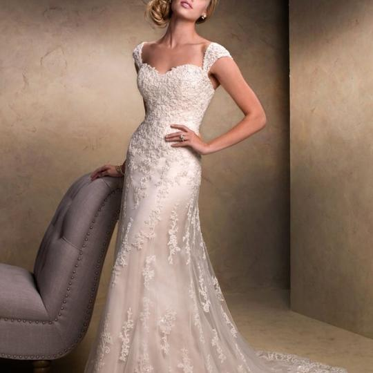 Maggie Sottero White/Ivory Emma Traditional Wedding Dress Size 2 (XS) Image 1