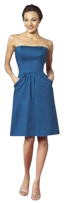 Item - Blue 6636 Short Night Out Dress Size 6 (S)