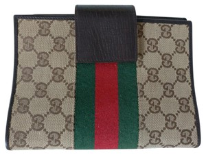 Gucci business card holders up to 70 off at tradesy gucci gg monogram web wallet beige clutch colourmoves