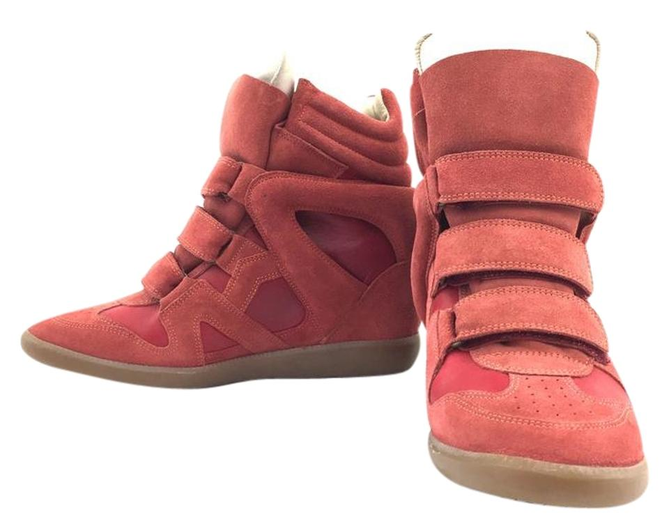 a474b6108a Isabel Marant Red #14289 High Heel 41 Sneakers Size US 9.5 Regular ...