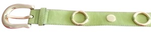 Escada Lime Green Suede Escada Belt with Gold Studding
