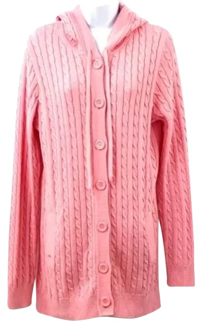Preload https://item3.tradesy.com/images/lilly-pulitzer-pink-hooded-cotton-knit-size-8-m-2213522-0-0.jpg?width=400&height=650