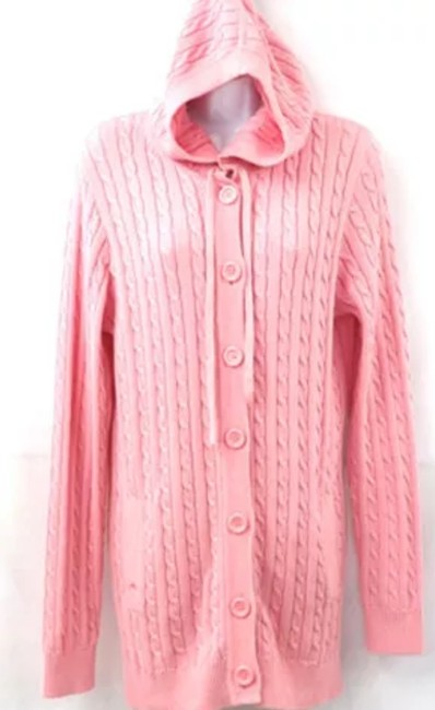 Lilly Pulitzer Hooded Cotton Knit PINK Jacket