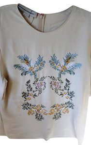 Stella McCartney Twill Top Floral Embellished