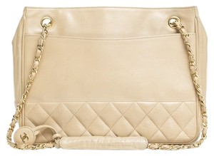 Chanel Vintage Classic Shopping Lambskin Shoulder Bag