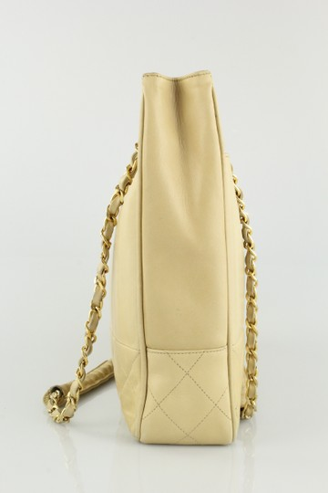 Chanel Vintage Classic Shopping Lambskin Tote in Beige