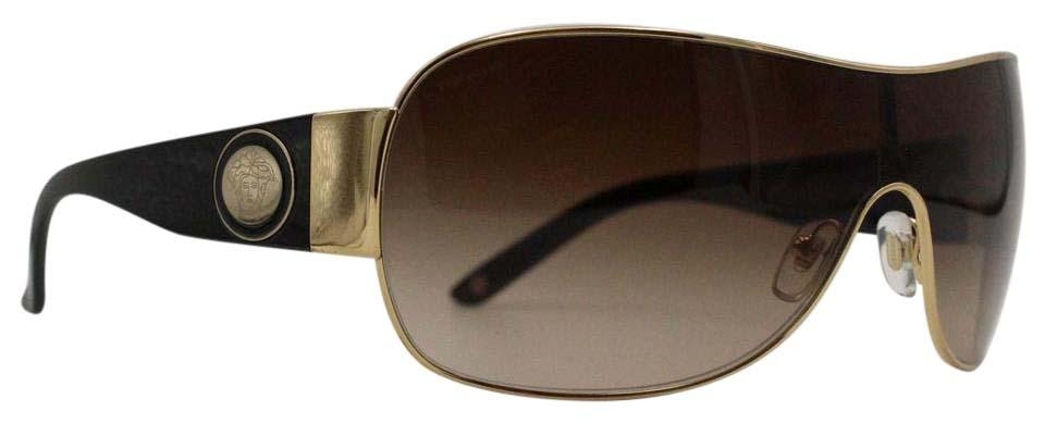 1604578f7e2 Bold Gold Black Shield Medusa Head Sunglasses Mod.2101 on Tradesy