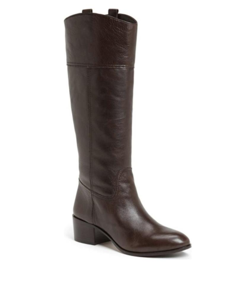 Louise Brown et Cie Dark Brown Louise Lo-verrah Leather Riding Boots/Booties 185d28