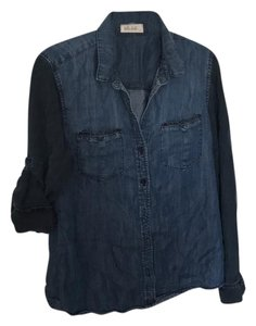 Bella Dahl Button Down Shirt navy