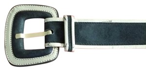 Escada Escada Olive Green Suede belt with Gold leather trim.