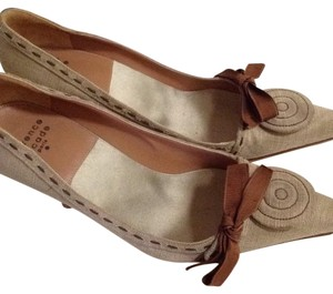 Laurence Dacade Taupe linen Pumps