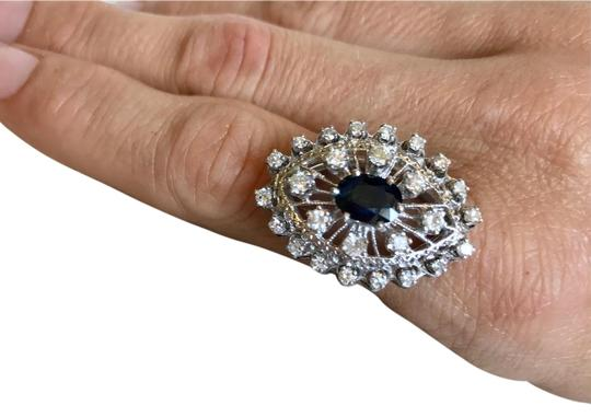 Vintage Estate Jewelry Vintage 1920's diamond & sapphire 14k white gold ring Image 0