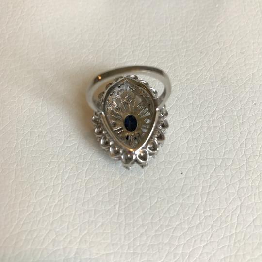Vintage Estate Jewelry Vintage 1920's diamond & sapphire 14k white gold ring Image 2