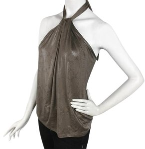 The Limited Taupe/olive Halter Top