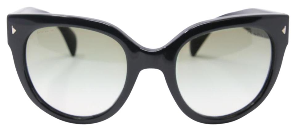 c27e7f71ca8d Prada Black Signature Milano Round Cat-eye Grey Gradient Spr 17o Sunglasses