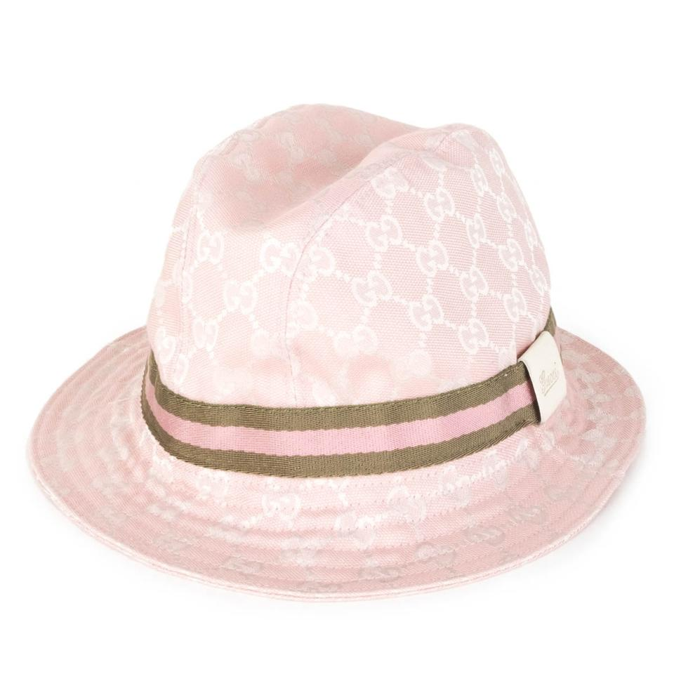 gucci pink gg canvas bucket hat 55 off retail. Black Bedroom Furniture Sets. Home Design Ideas