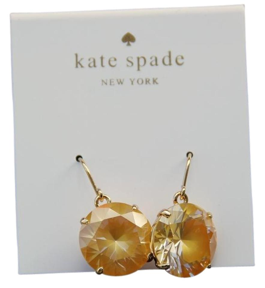 Kate Spade Yellow Shine On French Wire Cz Drop Wbrud546 Earrings ...
