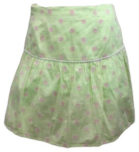 Lilly Pulitzer Embroidered Skirt GREEN/PINK