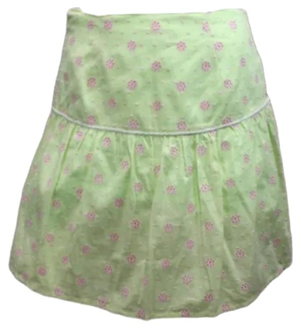 Lilly Pulitzer Embroidered 4 Skirt GREEN/PINK