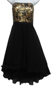 Nine West Emellished Beaded Sequin High-low Dress