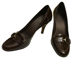 Circa Joan & David Patent Leather Work Comfortable Bronze Pumps