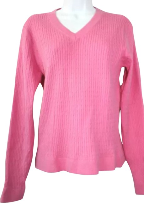 Preload https://img-static.tradesy.com/item/2213742/lilly-pulitzer-pink-cable-cotton-blend-knit-sweaterpullover-size-12-l-32-33-0-0-650-650.jpg