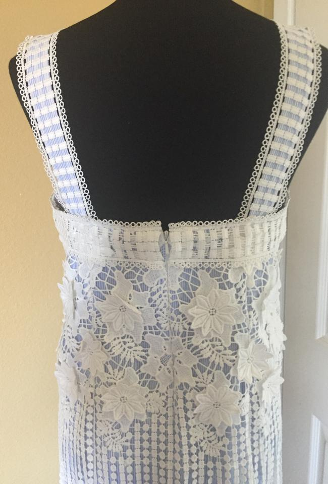 e884cd1f27aa Alexis White   Blue Short Cocktail Dress Size 10 (M) - Tradesy