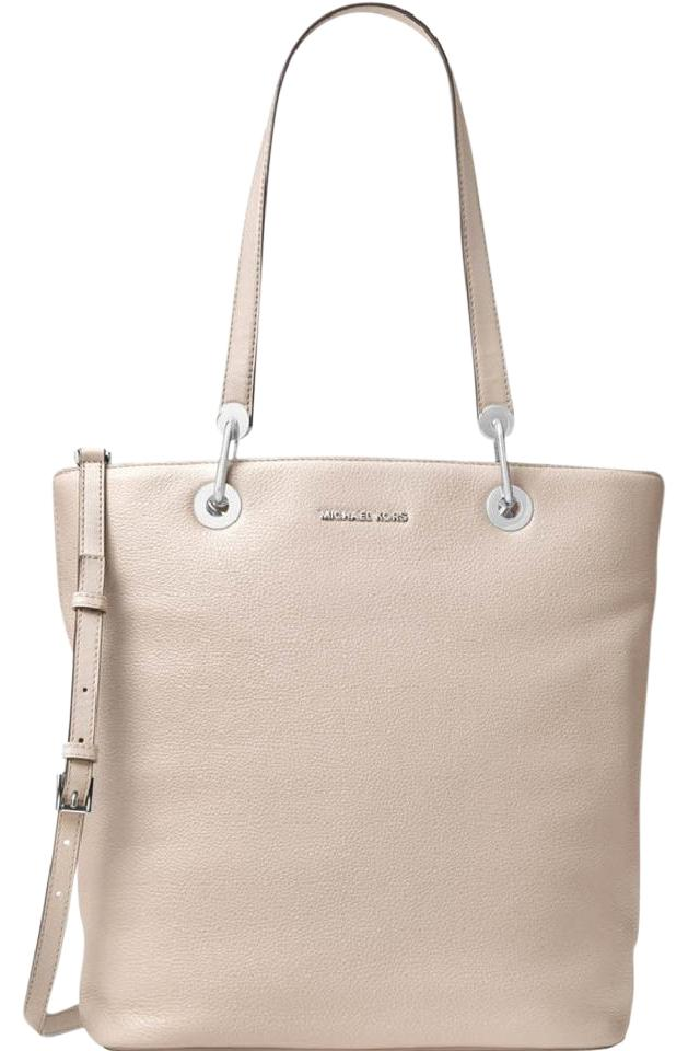 7ef42cc392b2 Michael Kors Raven Large Hayley Top Zip Emry Cement Leather Tote ...