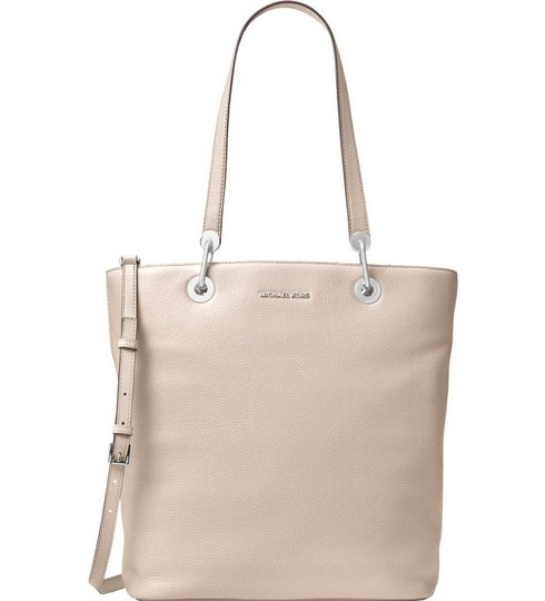 31c6ffb1554683 Michael Kors Raven Large North South Top Zip Cement Gray Leather ...