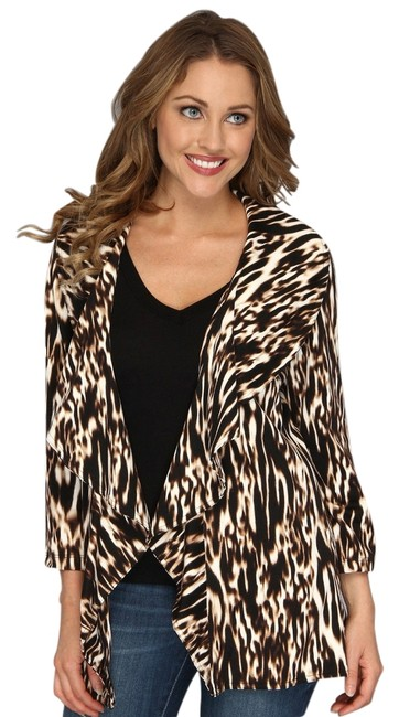 Preload https://img-static.tradesy.com/item/2213785/calvin-klein-brown-black-white-animal-print-peplum-spring-jacket-size-10-m-0-0-650-650.jpg