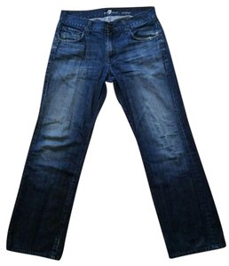 7 For All Mankind Fam Austyn Straight Leg Relaxed Fit Jeans-Distressed