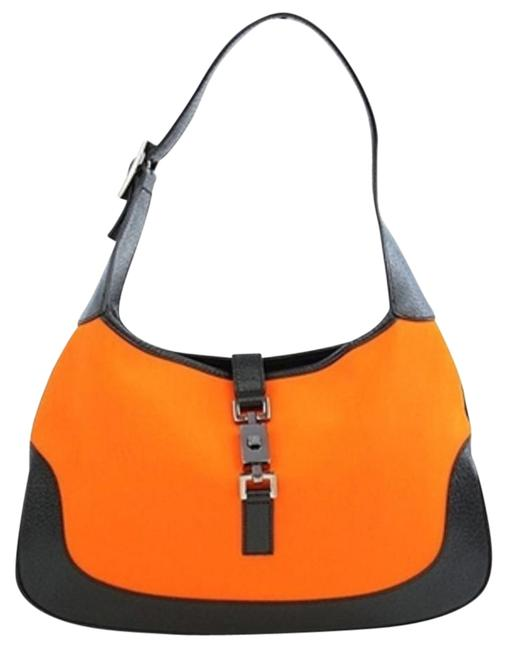 Item - Jackie 210775 Black X Orange Canvas Tote