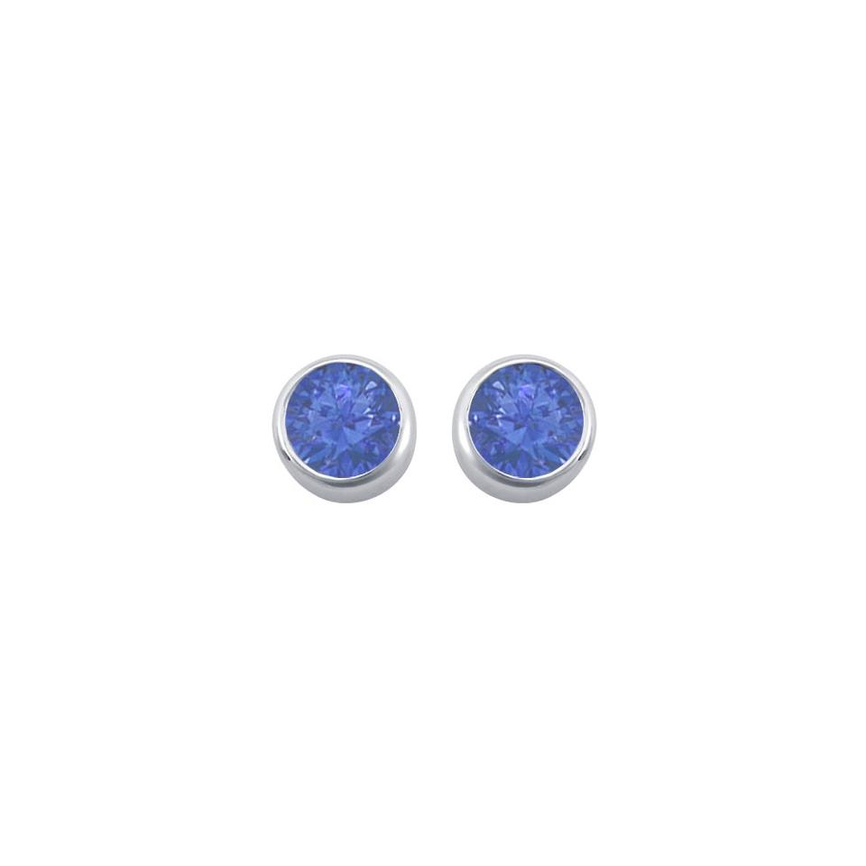 shop genevive earrings bezel stud set