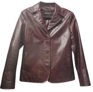Pasha & Jo Cuffed Chocolate Brown Leather Jacket