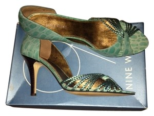 Nine West Aqua Croco Sandals