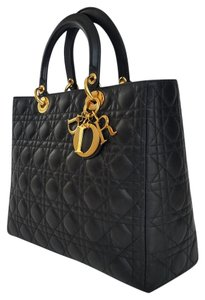Dior Lady Large Purse Tote in Dark brown