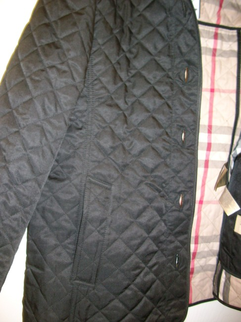 Burberry Ashurst Classic Modern Quilted Women's Black Jacket Image 3
