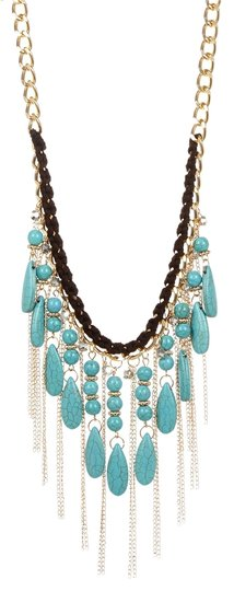 Sparkling Sage Sparkling Sage Stone & Chain Fringe Waterfall Necklace