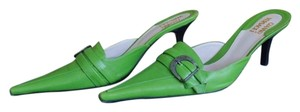 Versace Gianni Green Mules