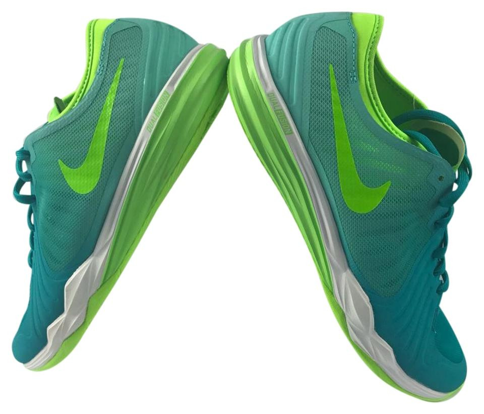 online store bd5fa c131f Nike Green Blue Training Dual Fusion Df Tr4 Cross Trainer Women s Sneakers