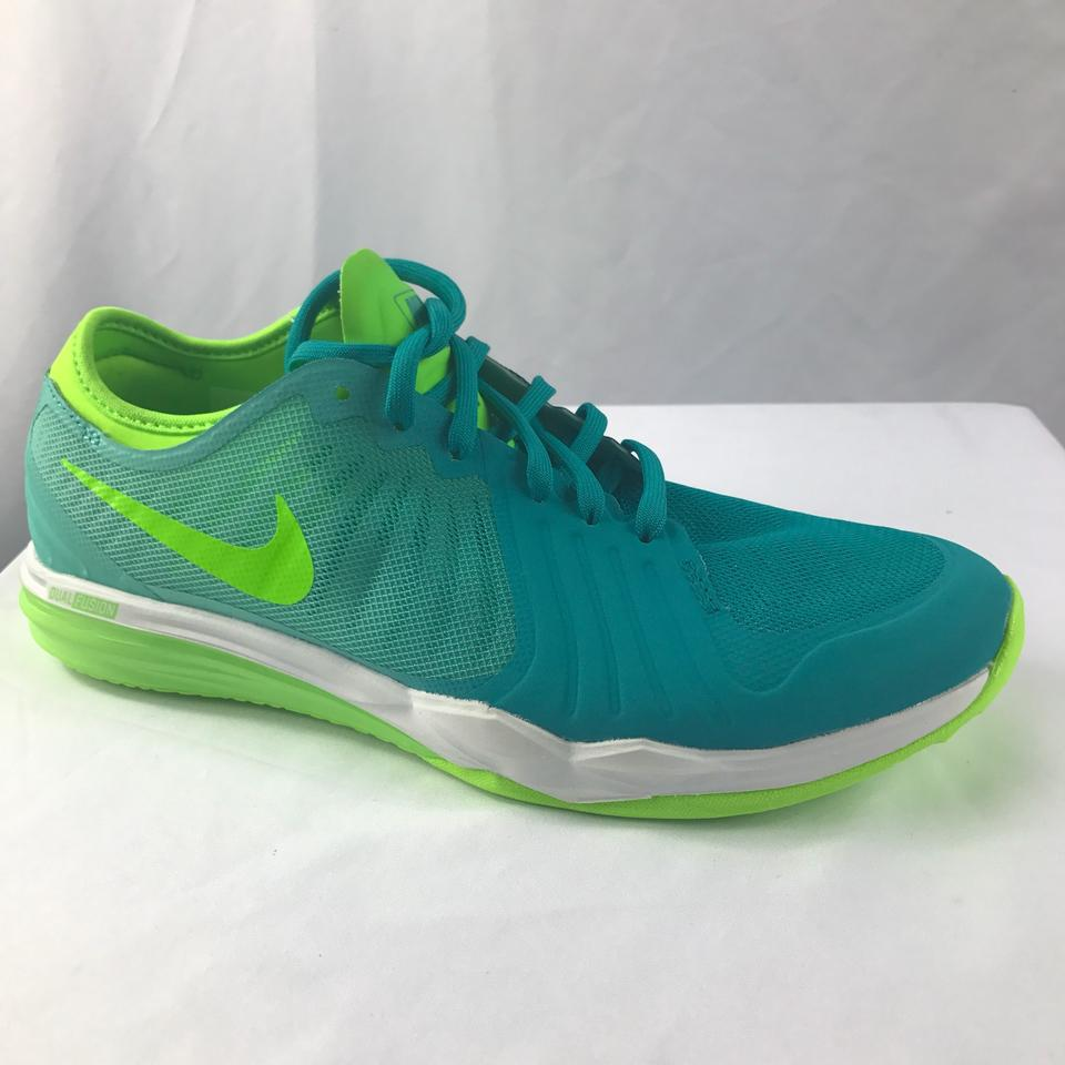 online store f79a8 a7b45 Nike Green Blue Training Dual Fusion Df Tr4 Cross Trainer Women s Sneakers  Size US 7 Regular (M, B) - Tradesy