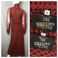 Jean-Paul Gaultier Burnt Red and Black 3 Piece Couture Long Night Out Dress Size 6 (S) Jean-Paul Gaultier Burnt Red and Black 3 Piece Couture Long Night Out Dress Size 6 (S) Image 2