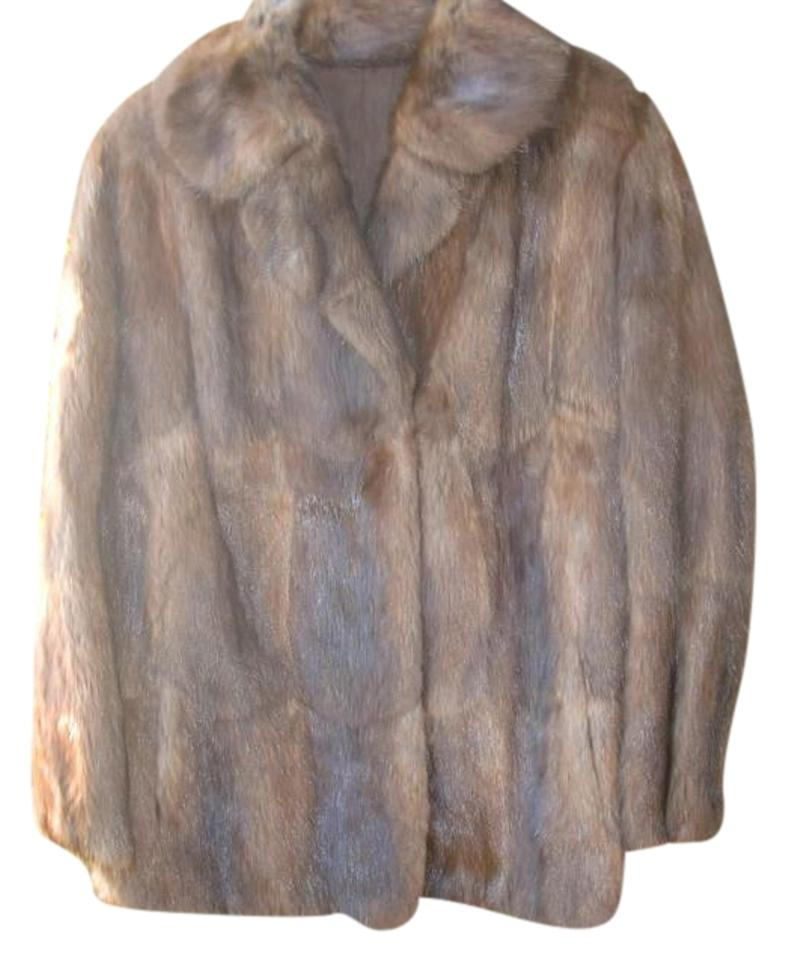 shabby chic sable toned muskrat fur jacket xl germany clean condition fur coat 89 off 22140042. Black Bedroom Furniture Sets. Home Design Ideas