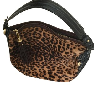 Brahmin Calf Hair Leather Boho Hobo Bag