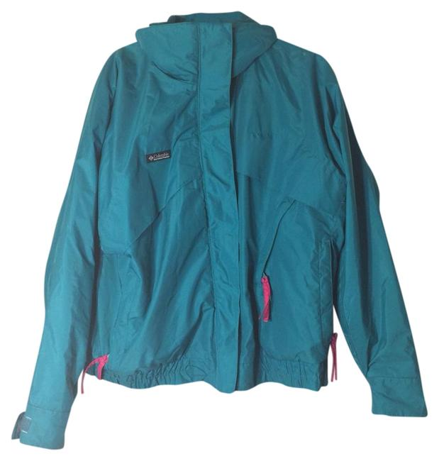 Item - Teal Whirlibird Reversible Coat Activewear Outerwear Size 12 (L)
